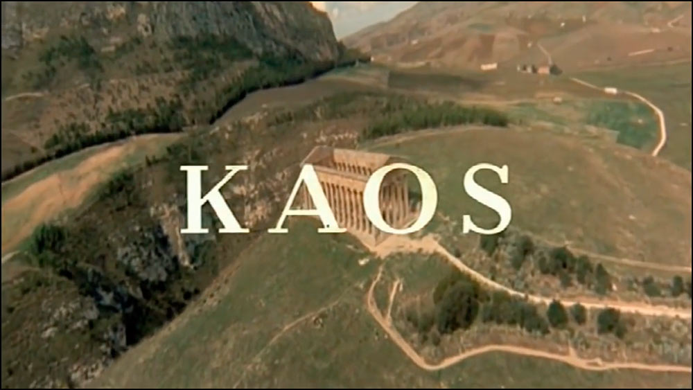 Segesta in opening sequence of Kaos, Taviani brothers