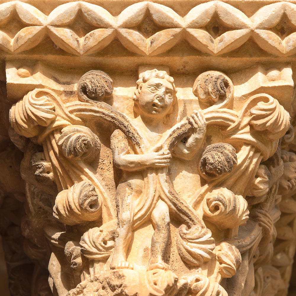 Capital, the Benedictine Cloister, Monreale