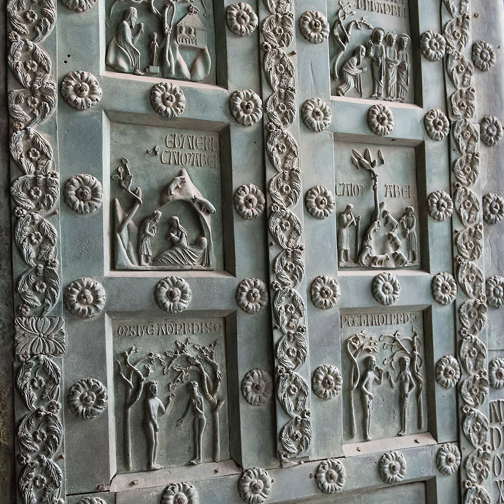 Bronze West Door, Monreale Cathedral, Sicily, by Bonanno da Pisa (c. 1186)