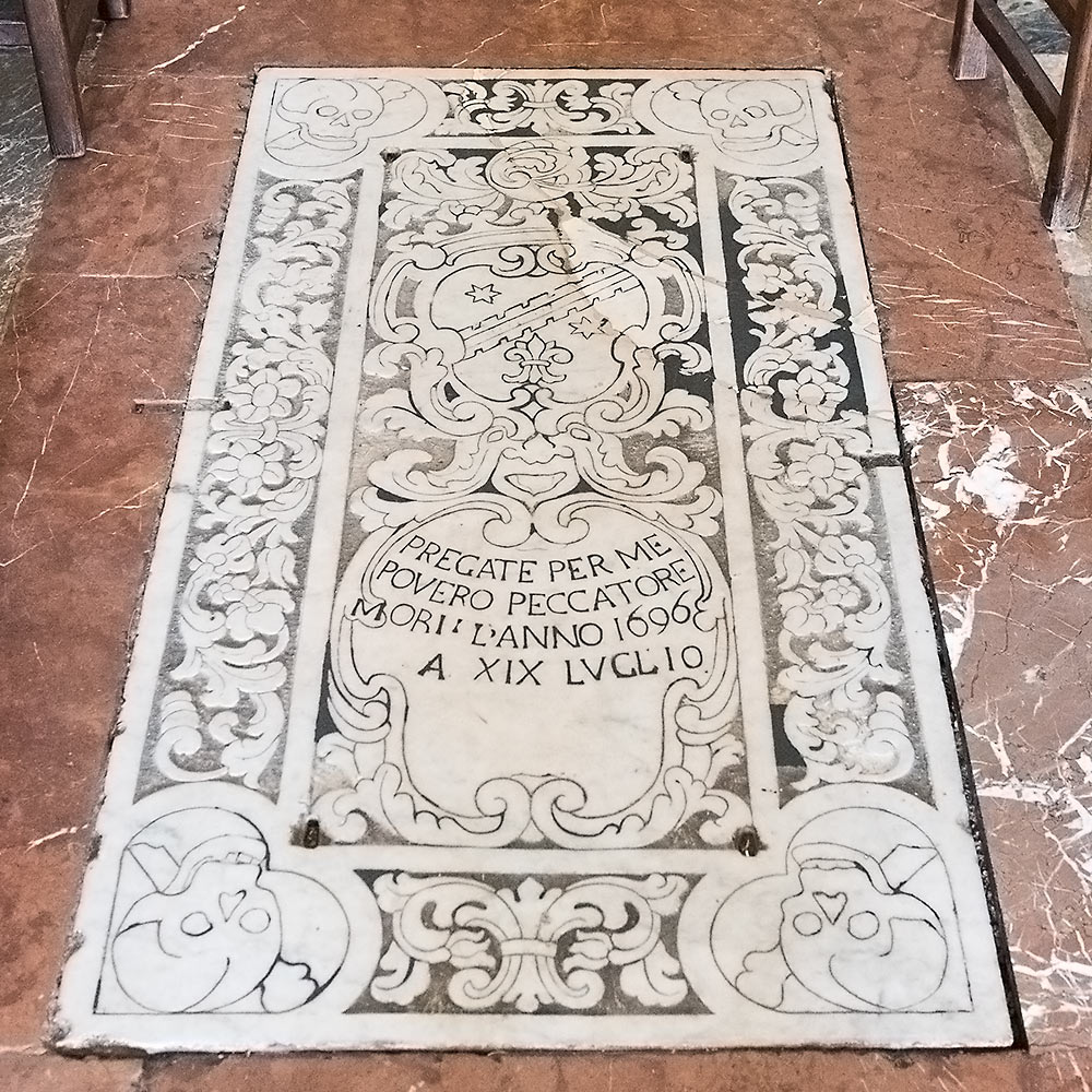Tomb in the Church of San Pancrazio, Taormina.