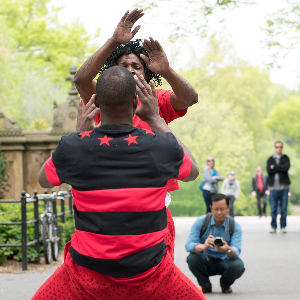 Acrobats in Central Park
