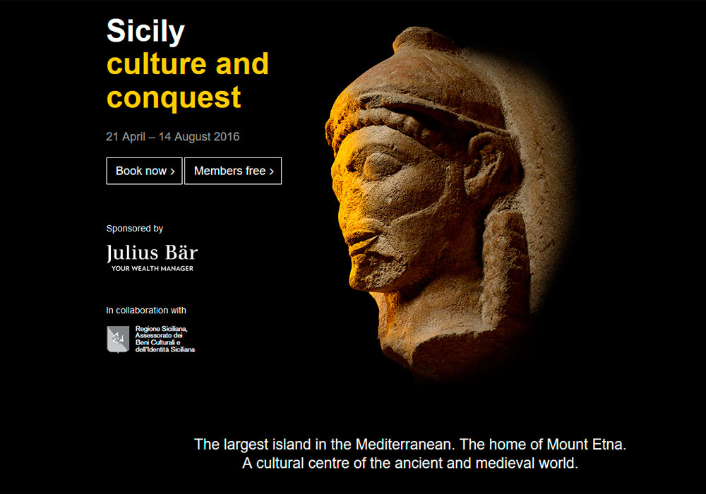 British Museum: Sicily – Culture and Conquest 21 April – 14 August 2016