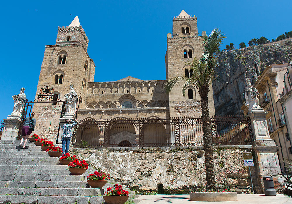 Norman cathedral in Cefalù, Sicily