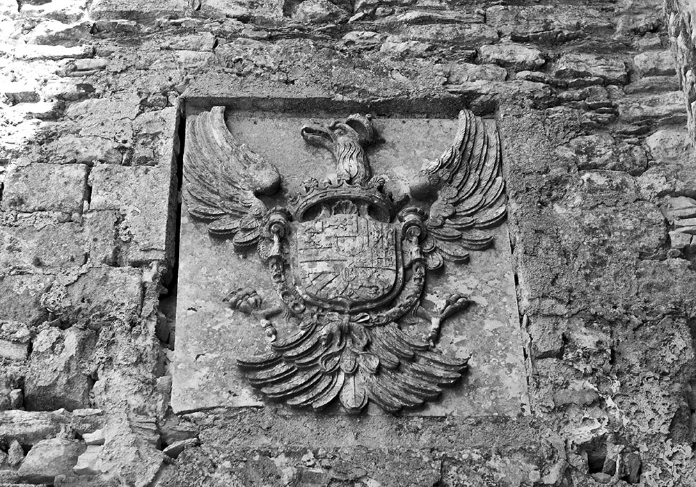 Coat of arms of the Spanish emperor Charles V,  Castello di Venere, Erice