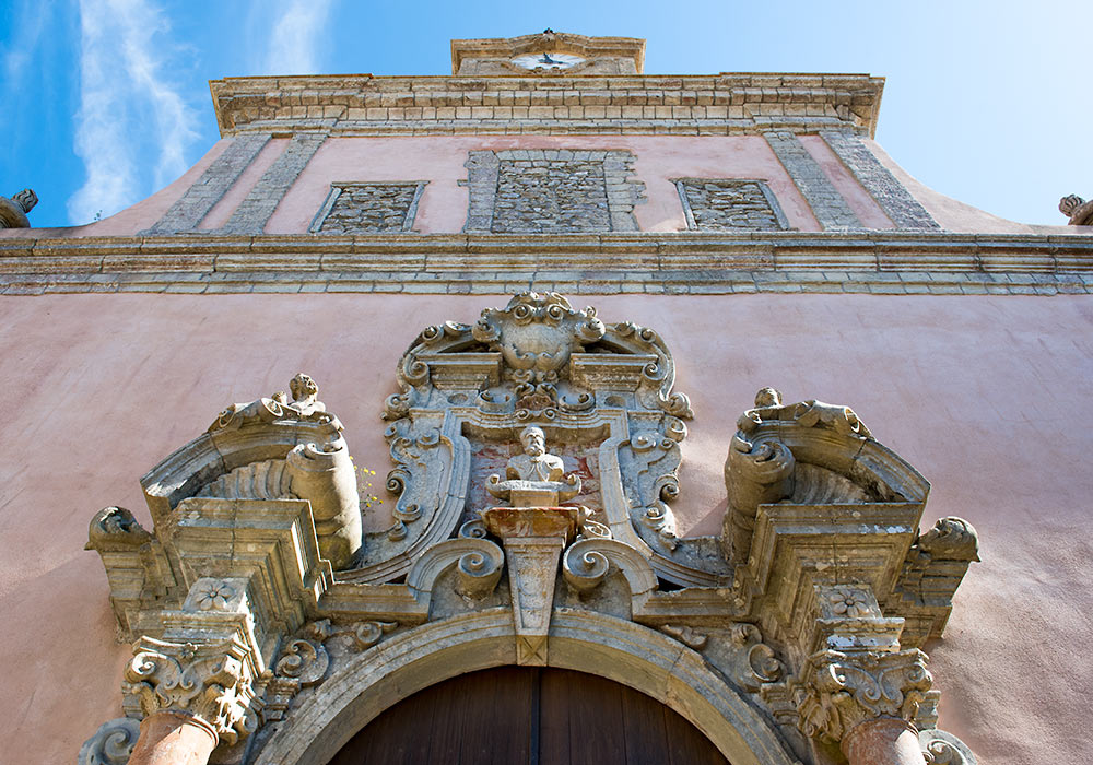 Baroque doorway of the church of S Martino, Erice