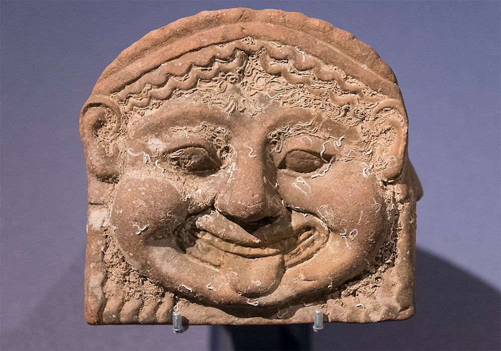 Gela, Sicily: Gorgon roof ornament, 500-450 BC