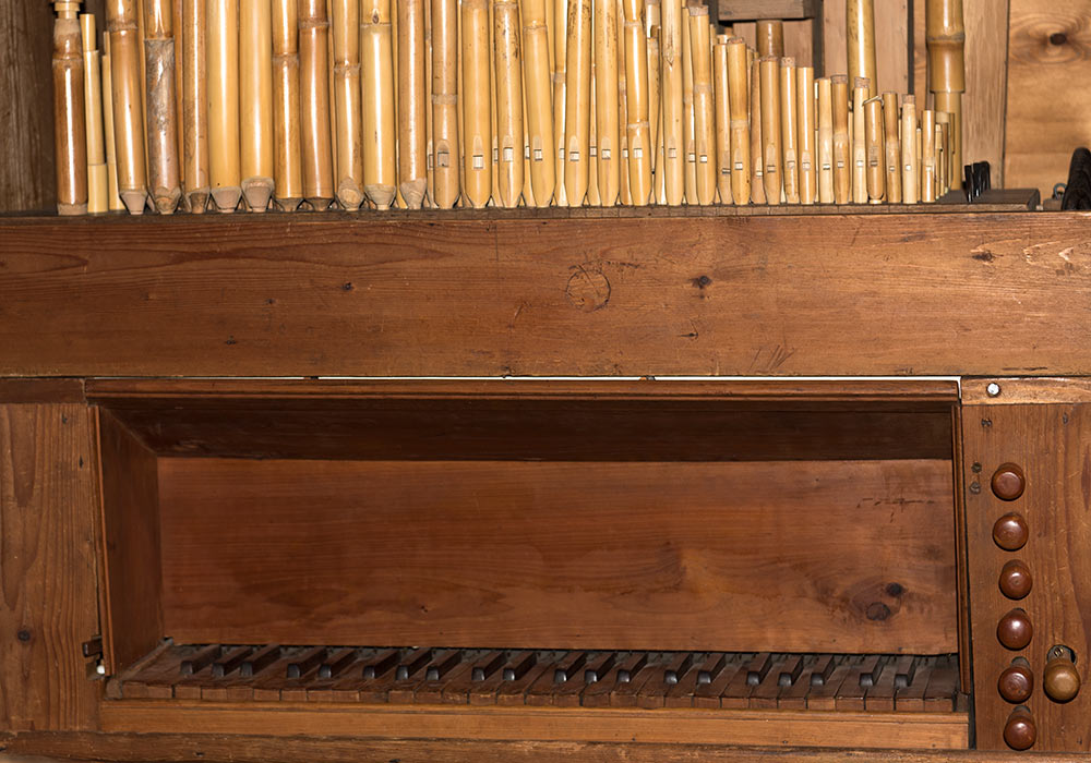 Wooden organ in Gibilmanna Museum