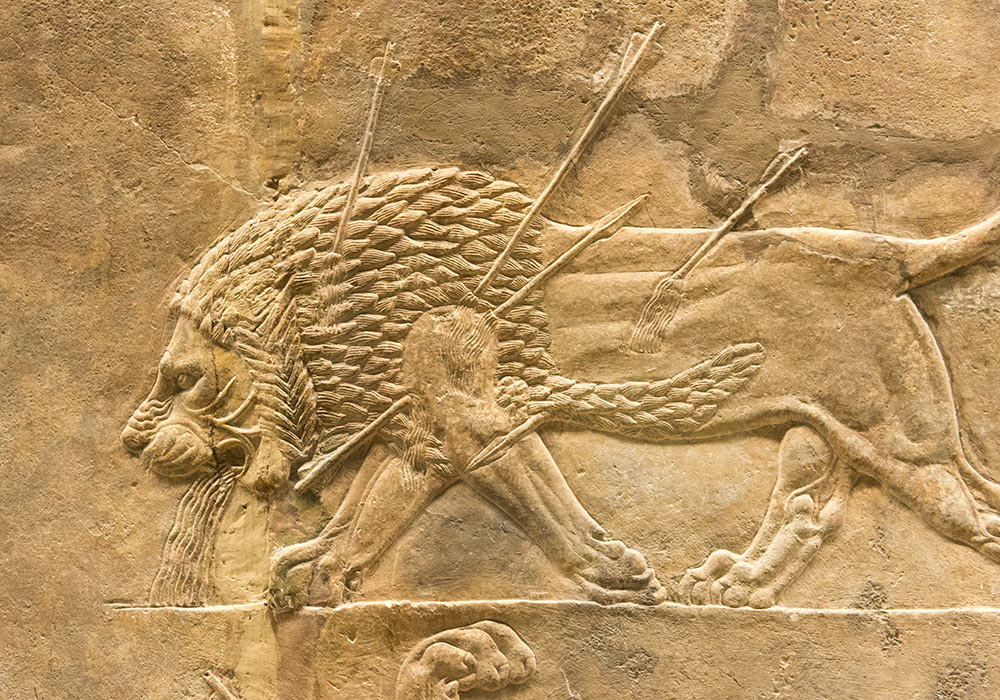 Assyrian Lion Hunt Reliefs at British Museum