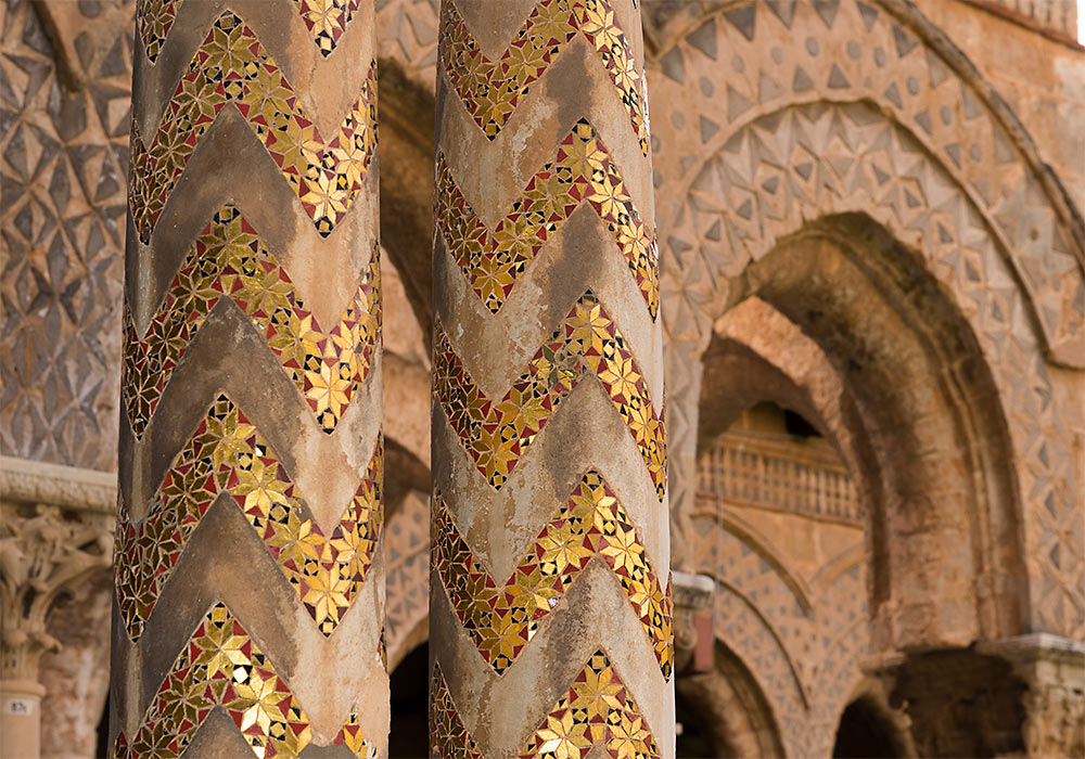 Columns, the Benedictine Cloister, Monreale