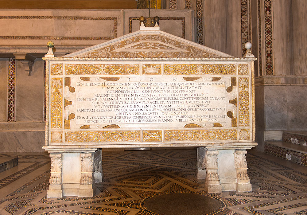 Tomb William II, Monreale Cathedral, Sicilia