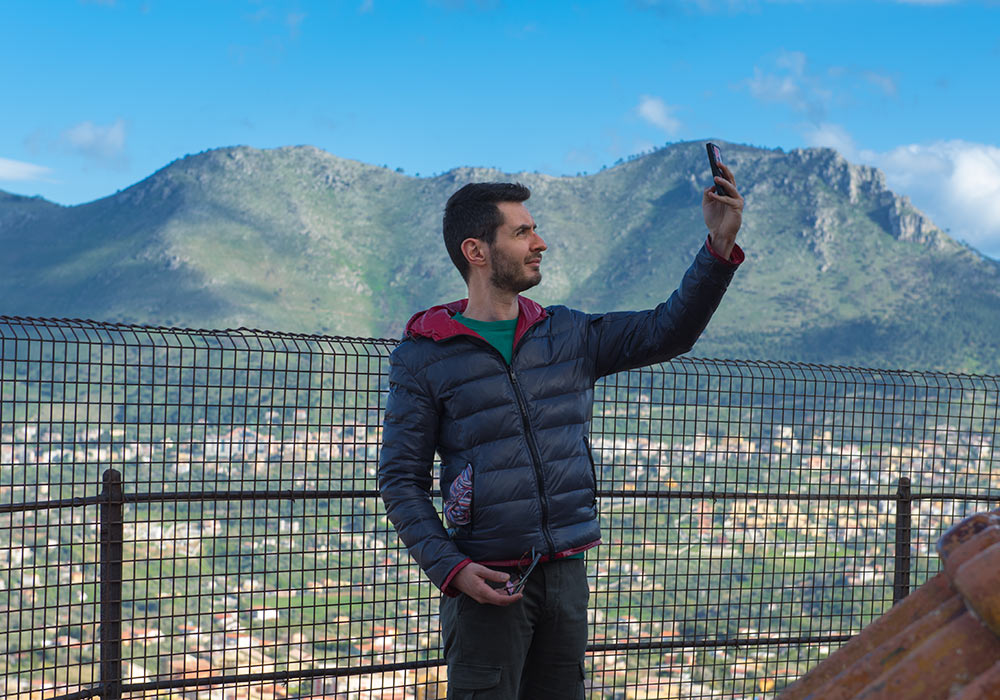 Selfie on the roof of the Monreale Cathedral