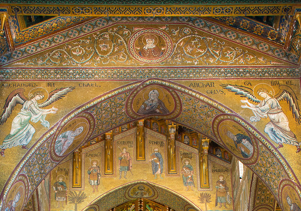 Monreale cathedral: golden mosaics