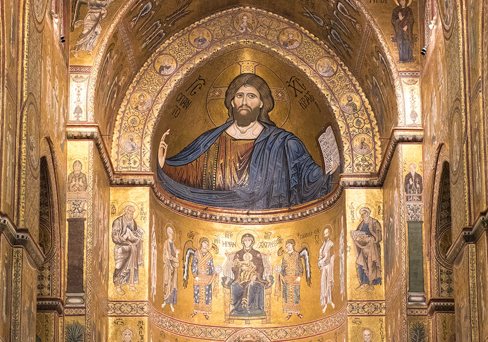 Christ Pantocrator mosaics in the cathedral in Monreale, Palermo