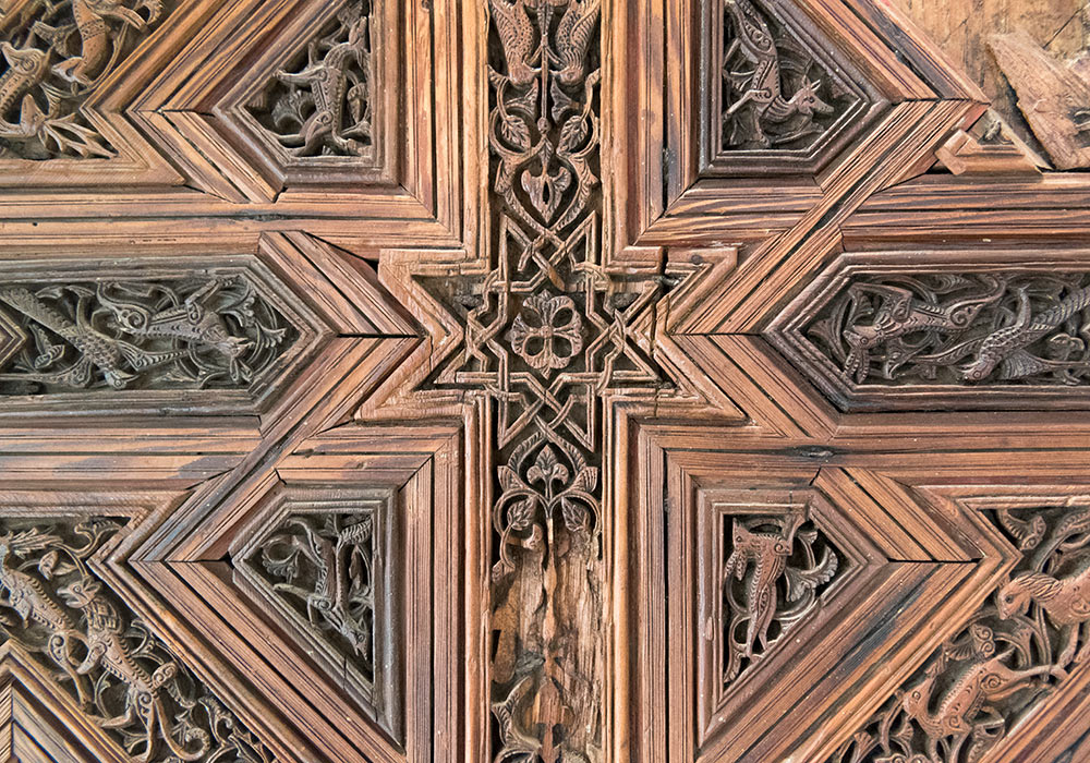 Fragment of the ceiling (12th century) in the Norman Palace.