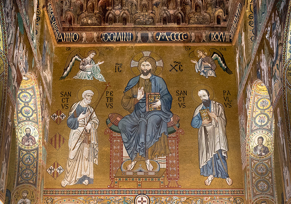 Cappella Palatina: Mosaic of Christ the Lawgiver