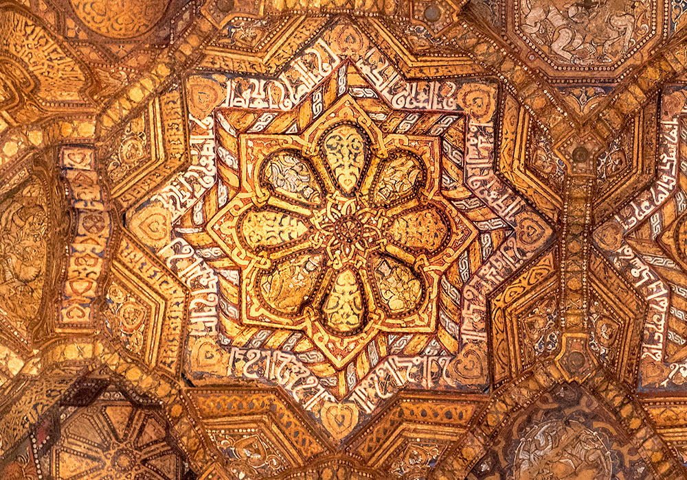 Wooden ceiling in the Palatine Chapel in Palermo (Cappella Palatina)