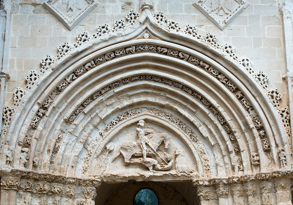 Ragusa Ibla: Portal of the church of San Georgio Vecchio