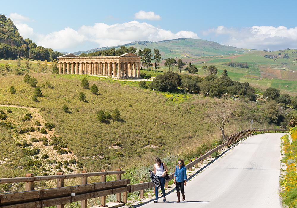 the ancient temple in Segesta