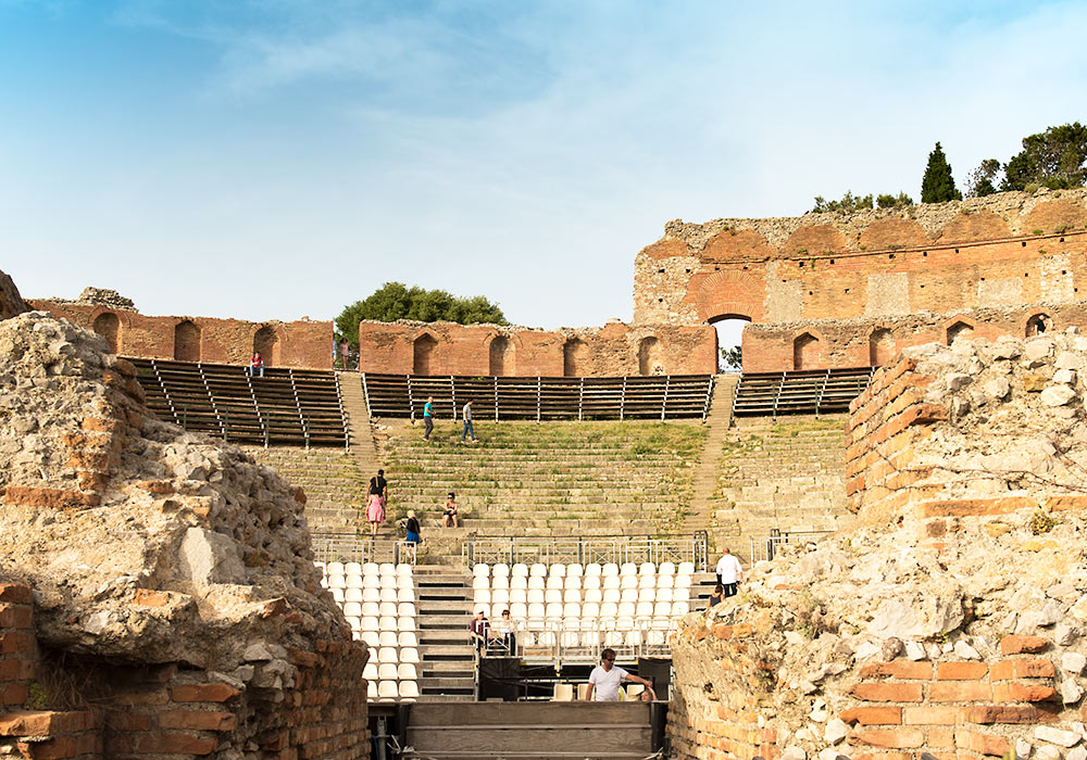 The Greek Theatre in Taormina, Sicily