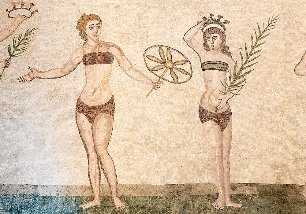 "The ""Bikini Girls"" mosaic: Villa Romana del Casale, Piazza Armerina"