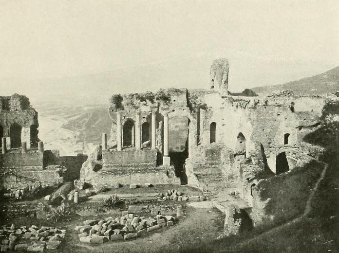 The Greek Theatre in Taormina anno 1907
