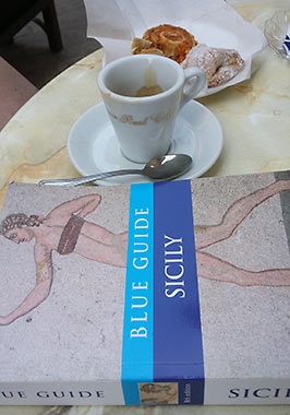 Wonders of Sicily, Blue Guide and espresso