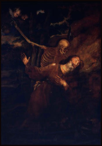 St. Hilarion in the arms of Death