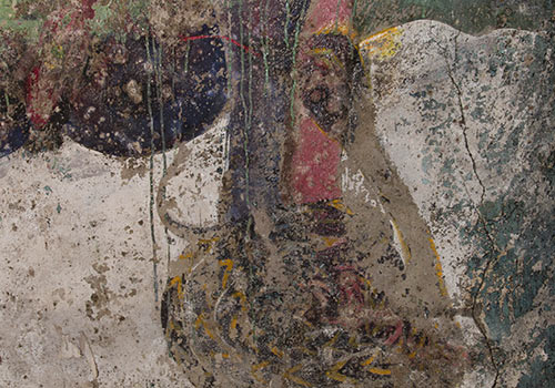 Original painting on the wall in Crowle's Abbey of Thelema