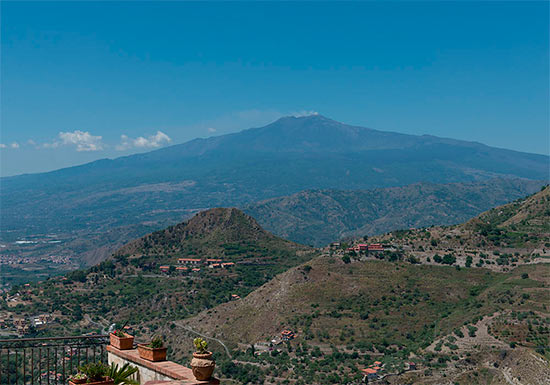 Mount Etna seen from Castelmola