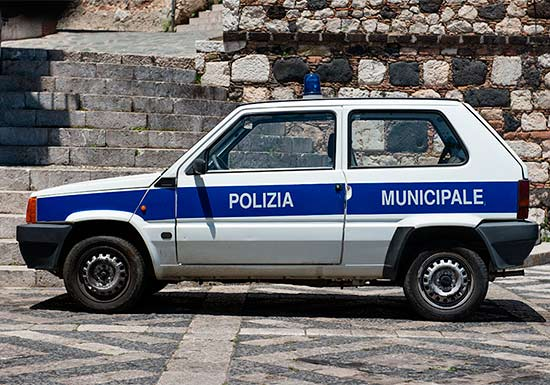 police car in Castelmola