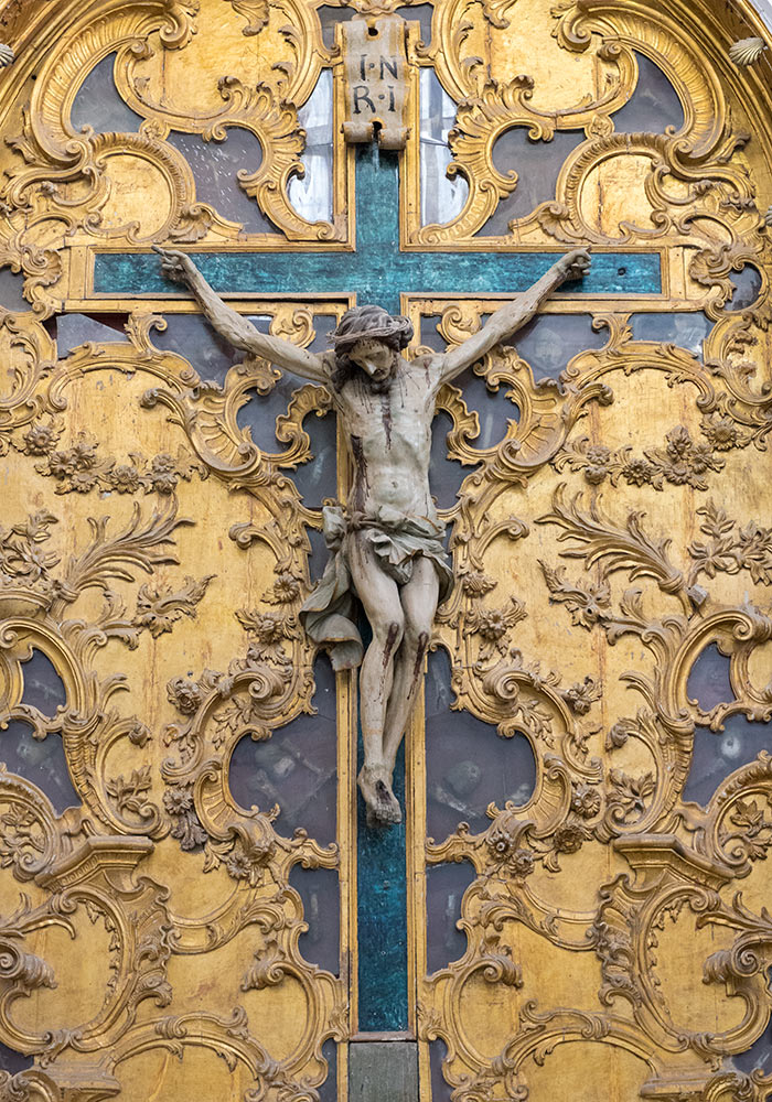 Crucifix in the church of the Purgatorio (San Lorenzo), Agrigento